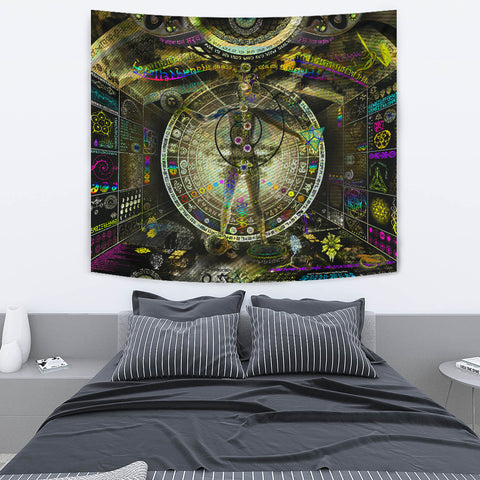 Recursive Pantheism Artwork Tapestry