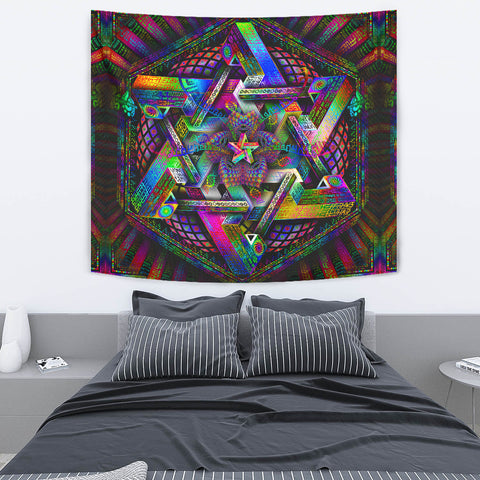 Hyperdimensional Harmonics Artwork Tapestry