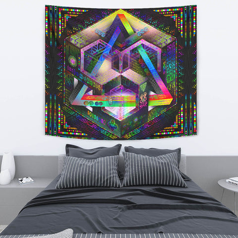 Translinguistic Equation (Prismatic) Artwork Tapestry