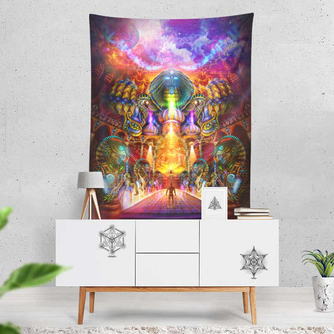 "XL Tapestry / Backdrop of ""As Within, So Without"" FREE SHIPPING"