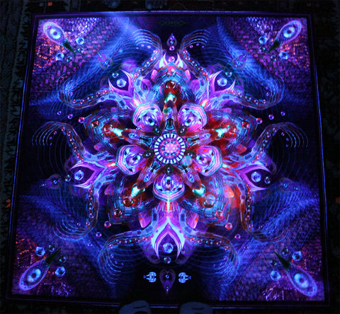 UV Active NEON Lycra Tapestry / Backdrop - Asteroidea Venusia