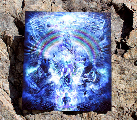 Cosmic Ascension Stretched Canvas Print