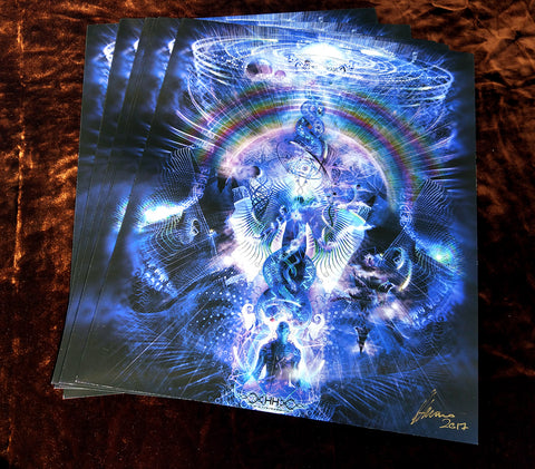 "Signed Paper Print of ""Cosmic Ascension"""