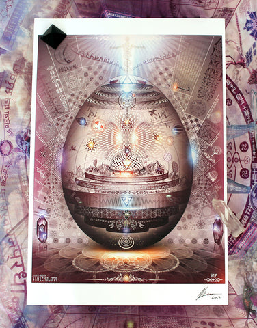 "Signed Paper Print of ""Universal Transmissions: IX - The Cosmic Egg"""