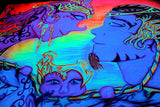 "UV Active Neon Lycra Tapestry of ""Love in Eslonia"""