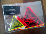 Neon Eye of Horus Sticker pack / UV reactive / 10 stickers