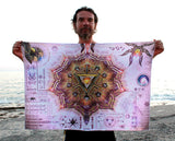 Lycra tapestry  / Backdrop of Manipura Chakra