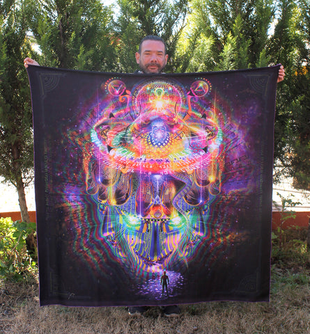 "Fleece Shawl of ""Reclaiming the Throne"" - Cozy & Lightweight"