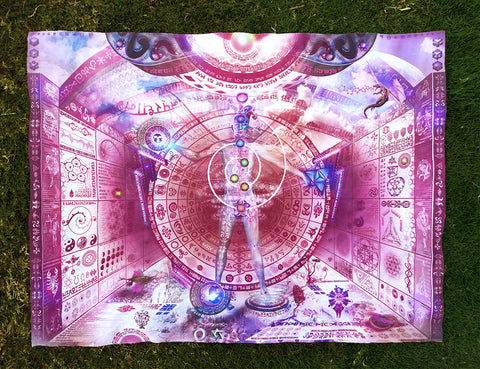 Lycra Tapestry / Backdrop of Recursive Pantheism