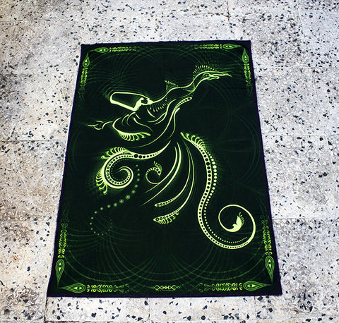"Fluro Neon Lycra Tapestry of ""Sufi"" - UV Active!"
