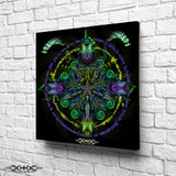 "Stretched Canvas Print of ""Saurian Samsara"""