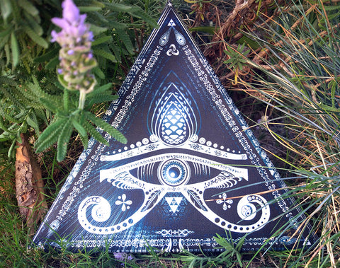 "UV Active ""Singular Sight"" Triangular Canvas Print (Stretched)"