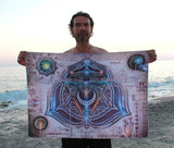 Lycra tapestry  / Backdrop of Vishuddha Chakra