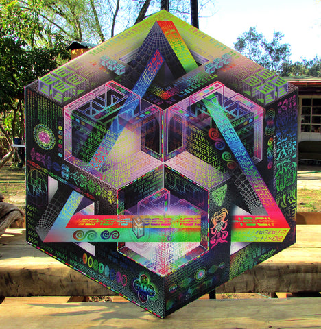 "Hexagonal Stretched Canvas Print of ""Translinguistic Equation"" - Limited Edition (Prismatic Version)"