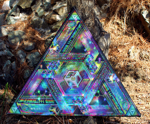 "Limited Edition Triangular Stretched Canvas Print of ""Trinary Transcendence"" (Run of 50)"