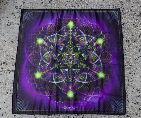 UV Active NEON Canvas Backdrop - Trance Nectar 68 x 68 cm