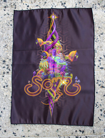 UV Active NEON Canvas Backdrop - Soma 57 x 40 cm