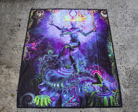 UV Active NEON Canvas Backdrop - Serpentine Apotheosis 70 x 58 cm