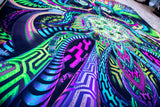 Large UV Active NEON Canvas Backdrop - Primordial Presence