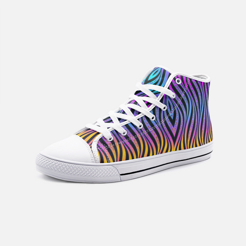 Xenowave Unisex High Top Canvas Shoes