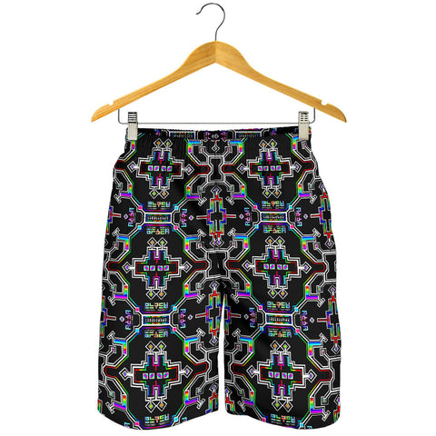 Prismatic Grid Men's Shorts