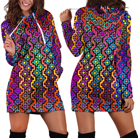 Rainbow Healing Women's Hoodie Dress