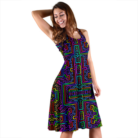 Prismatic Overlay Women's Dress