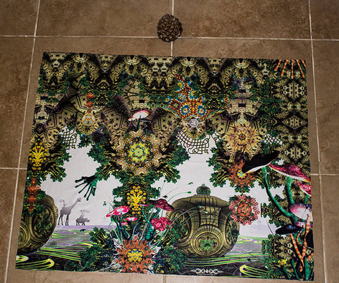"Lycra Tapestry of ""Garden of Delights"""