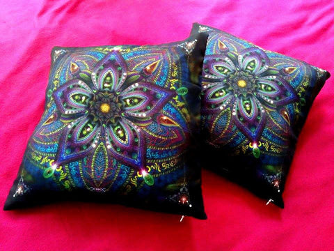 Moksha in Bloom Throw Pillow