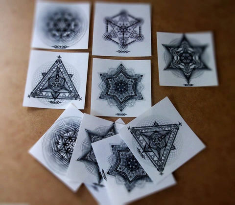 Transparent Sacred Geometry Sticker Pack