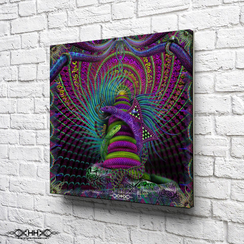 "Stretched Canvas Print of ""Kundalini Rising"""