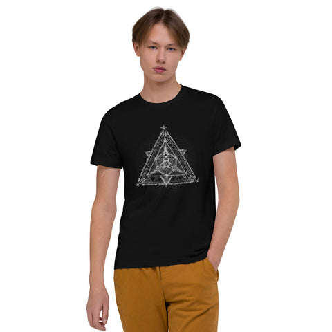 "Sacred Geometry Collection ""Triad"" Unisex Organic Cotton T-Shirt"