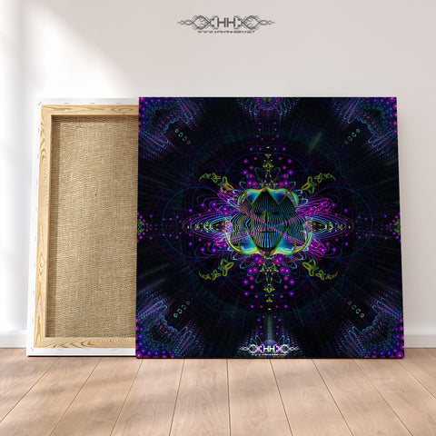 "Stretched Canvas Print of ""Subatomic Neuronaut"""