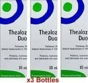 3 x Thealoz Duo Preservative free 10ml for Severe Dry Eyes. NEW!!