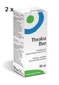 2 x Thealoz Duo Eye Drops 10ml NEW!