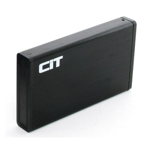 "CiT USB 3.0 Sata Hard Drive Enclosure, External Sdd/HDD Enclosure For 3.5"" HDDs, Tooless, Sata I/Ii/Iii, Supports Windows & Mac Osx, Use On the Go - Black"