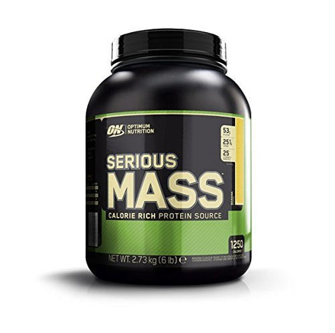 Optimum Nutrition ON Serious Mass High Calorie Mass Gainer Protein Powder with Vitamins, Creatine and Glutamine, Banana, 8 Servings, 2.73 kg 6 Pound - 2.72 Kg