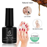 Beetles 6 Colours Gel Nail Polish Set - Grey and Nude Blue Glitter Gel Polish Soak Off UV LED Nail Gel Polishes Set Fall Winter Gel Nail Kit Gifts Box for Manicure Nail Art Salon 7.3ml Each Bottle 15