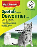 Bob Martin Clear Spot On Wormer for Cats and Kittens over 1kg 4 Pack