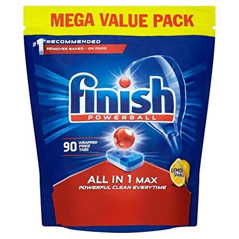 Finish All in 1 Max Dishwasher Tablets, Lemon Scent - 90 Tabs 90s