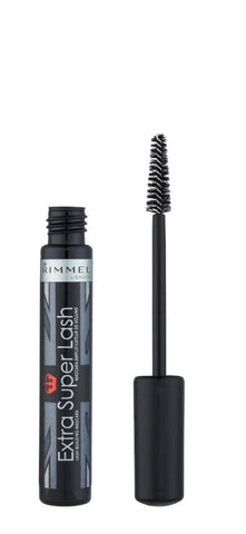 Rimmel London Extra Super Lash Building Mascara, Eye-opening Effect with Hydrogels and Vitamin E Formula, Black, 8 g Black Black