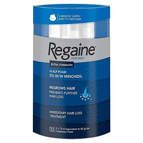 Regaine For Men Hair Regrowth Foam, 3 x 73 ml