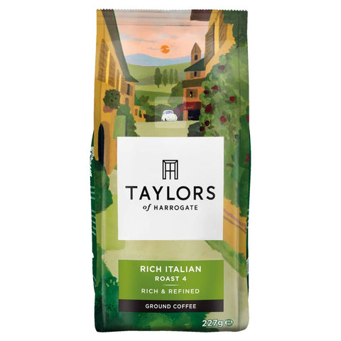 Taylors of Harrogate - Rich Italian Ground Coffee, 227 g (Pack of 6)