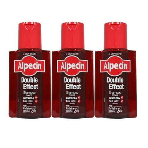 Alpecin Double Effect Shampoo 200ml (Pack of 3)