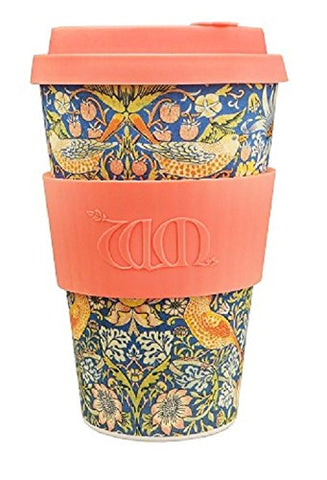 William Morris Thief, 14oz Ecoffee Cup | Made with bamboo fibre, no-drip lid & dishwasher safe
