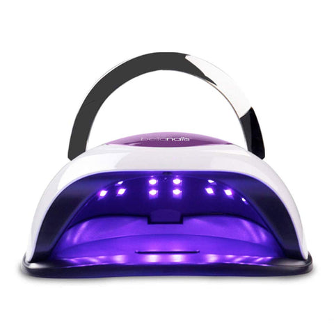 BELLANAILS Professional LED Nail Lamp For Home or Salon Use, 3x Faster Than Traditional UV Nail Dryers - Works With CND Shellac & Other Leading Brand Polishes, 4 Time Presets, 120 W Standard Size