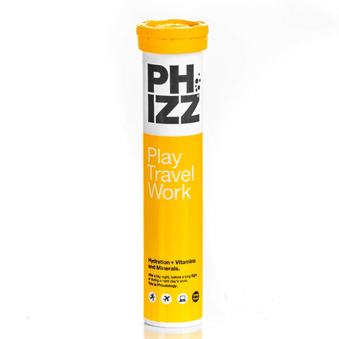 Phizz Hydration + Vitamins & Minerals – 20 Tablets (Orange) Orange Tube of 20 Tablets