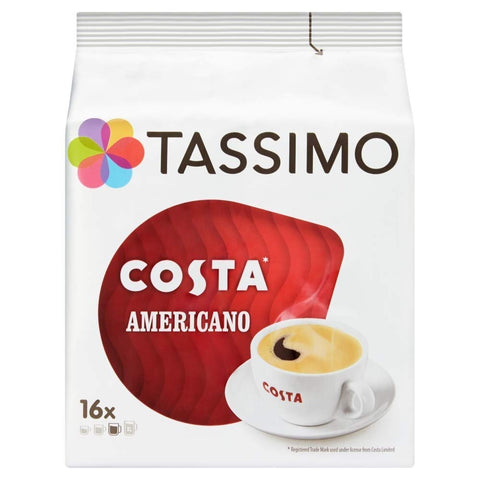 Tassimo Costa Americano Coffee Pods (Case of 5, Total 80 pods, 80 servings) 80 Unit