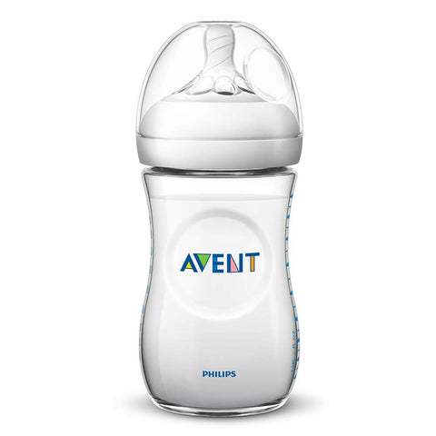 Philips Avent SCF033 / 17 - 260 ml natural baby bottle,  Transparent