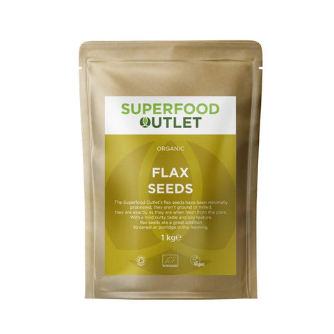 Organic Flax Seeds 1KG | Superfood Outlet